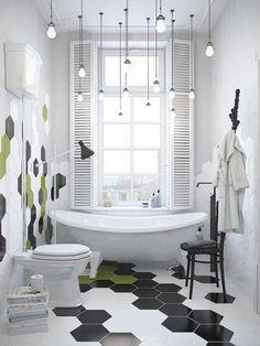 Suspensions ampoules dans la salle de bains