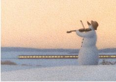 Inkognito: Snowman playing the violin