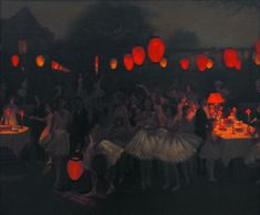 Thomas Cooper Gotch RBA RI RP  (1854-1931)  Study for 'The Birthday Party' about 1930 oil on canvas, 50.8 x 61 cms
