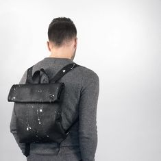 Rollitbag - Small - Black Spattered - magnet version by @wouterkaan #mees  #rollitbag  #instafashion  #leatherbags  #conceptstore  #ootd  #premierevision  #pittiuomo #highsnobiety  #tradeshow  #fashionblogger  #fashionweek  #capsuleshow  #seekberlin  #whitetradeshow  #agendashow  #libertyfairs  #tranoi #fillingpieces #etq #masongarments #vogue #tranoi #mensstore #permierevision #lineapelle #antisocialsocialclub #dailypaper #herschel #kith