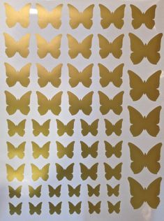 50 Metallic Silver or Gold Butterfly Vinyl Wall Decals - 2 sheets $49.00 / black