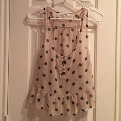Forever 21 blouse Polka dotted blouse from Forever 21. Still in great condition! Forever 21 Tops Blouses