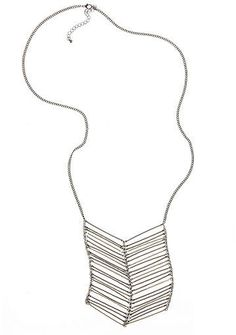 Newport News Silver Chevron Necklace by Shape fx® for Sale