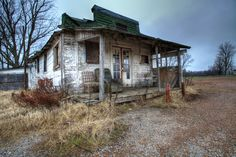 An old abandoned store in Cloverdale, Tennessee.