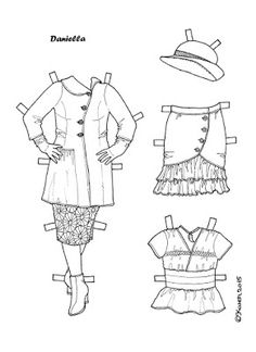 Karen`s Paper Dolls: Daniella 1-2 Paper Doll to Colour. Daniella 1-2…