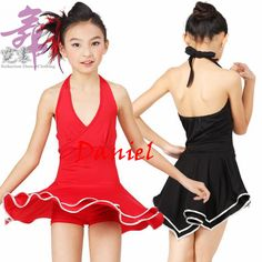 5f26f48ce dress for dancing black/red ballroom dance dress girls S-XXL girls latin  dresses girls dance costumes free ship