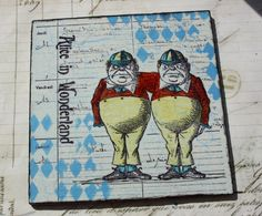 Alice In wonderland Drinks Coaster, Table Mat by GingersAlteredBits on Etsy