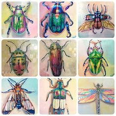Natura Insects A Series Of Insect Art Floral Arrangements - In His Series Natura Insects Montreal Based Artist Raku Inoue Uses An Assortment Of Freshly Cut Blooms To Create Colorful Insect Sculptures Each Delicately Crafted Floral Arrangement Transforms T Beetle Insect, Insect Art, Kids Art Class, Art For Kids, Ib And Garry, Gcse Art Sketchbook, Atelier D Art, Bug Art, Bugs And Insects