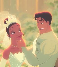The Princess and the Frog Tiana and Naveen Walt Disney, Disney Nerd, Disney Couples, Disney Magic, Disney Movies, Disney Stuff, Tiana And Naveen, Disney Princess Tiana, Disney Animation