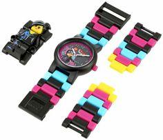 Lego Movie Kids Watch Wyldstyle mini figure link watch