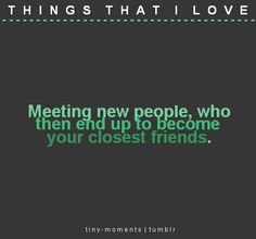 Yes! So glad we met some new friends two weeks ago! It's like we've known each other forever.