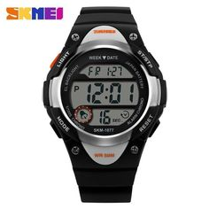 64a84564f0f SKMEI 1077 LED Digital Alarm Waterproof Rubber Band Sport Wrist Watch at  Banggood Boys Watches