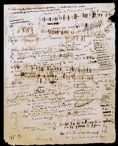 Manuscript  : Balzac