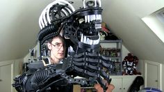 This 3D Printed Xenomorph Suit is Getting Scary #3DPrinting