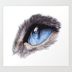 Cat's Eye Art Print by vivianloharts Cat Eye Tattoos, Cat Tattoo, Eye Painting, Acrylic Painting Canvas, Cat Eyes Drawing, Draw Eyes, Cat Eye Colors, Natural Form Art, Eye Drawing Tutorials