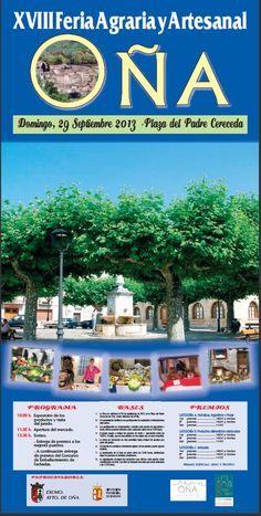 29/09 XVIII Feria Agraria y artesanal. #Oña 10:00 Pza del Padre Cereceda Las Merindades