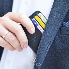 VANKO minimal card holder Your Cards, Minimal, Card Holder, Pocket, Handmade, Etsy, Design, Rolodex, Hand Made