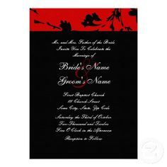 red and black wedding theme | Red, Black and White Wedding Theme: From Favors to Decoration Ideas ...