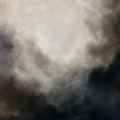 Dream Painting, Sky Painting, Painting Still Life, Dark Landscape, Cloud Art, Storm Clouds, Abstract Expressionism Art, Nature Paintings, Canvas Art