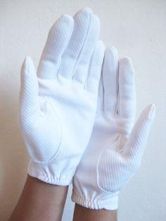 1950s White Gloves Biker Grunge Womens Ladies by OliverandAlexa, $22.00