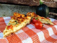 Slaný koláč s cuketou 20 Min, Vegetable Pizza, Tacos, Cooking Recipes, Mexican, Vegetables, Ethnic Recipes, Food, Basket