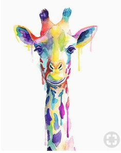 Giraffe Watercolour-Painting-Print