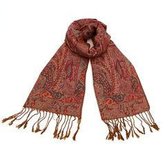 Multi-Color Paisley Pashmina at The Maverick Western Wear
