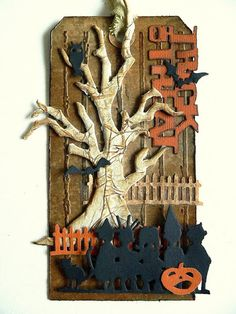 """love the """"bark"""" texture on the tree!   Von Pappe II: Our Creative Corner - Mid Month Reminder"""