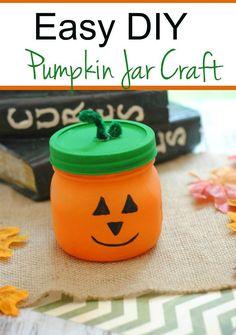 Pumpkin Jar Craft Kids & Family via @trhomeschool