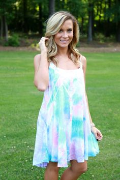 I'm Not Waiting Dress: Multi - Off the Racks Boutique