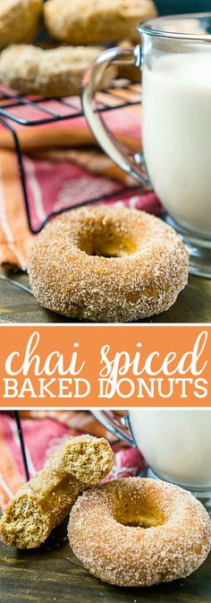 Nothing beats a fresh, warm batch of homemade Chai Spiced Baked Donuts! Easy baked donut recipe that makes great Sunday morning treat or holiday breakfast! | The Love Nerds #chaidonut #chairecipe #holidaydonut #AD #OregonChai #ChaiTea #MeTime via @lovenerdmaggie