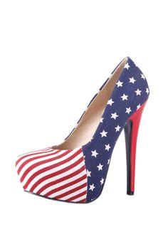 American Flag Print Skyscraper Heels OASAP.com  very nice shoes