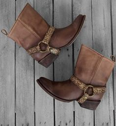 8703490df14 Leather harness boot Brown Leather Shoes, Brown Shoe, Leather Ankle Boots,  Real Leather