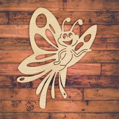 Happy fun kids butterfly template for laser cutting. Butterfly Stencil, Butterfly Pattern, Design Projects, Wood Projects, Projects To Try, Laser Cutter Engraver, Scroll Saw Patterns Free, 3d Prints, Happy Fun