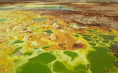 The world's most surreal landscapes Dallol, Ethiopia At Dallol, in the Denakil Depression, Africa dips to a depth of 116m below sea level, and the temperature soars. Dallol has the highest average air temperature in the world, calculated at 34.4°C. Head across the salt plain to the Dallol volcano, the lowest on earth, if that's not hot enough for you.