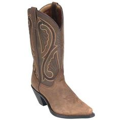 Laredo 5732 tan leather canyon western boot in Women Work Boots