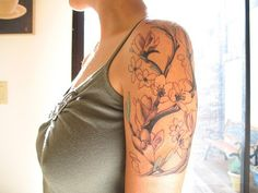 tree black and grey shoulder tattoo - Google Search