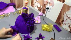 Кукла из конфет и гофрированной бумаги мастер класс (сделать своими руками)