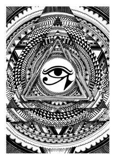 Eye of horus 2009 ink and pen By Iain Macarthur www.iainmacarthur.carbonmade.com