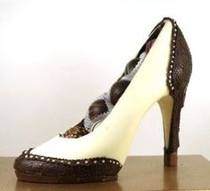 This gorgeously edible shoe brings the wingtip into chocolate fashion.