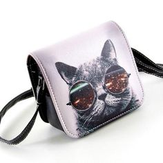 Cat Wearing Big Glasses Shoulder Bags – uShopnow store