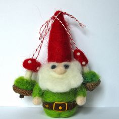 mushroom ornaments (the garden gnomes like to wear them on their hats)
