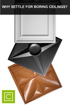 Dropped Ceiling, Floor Ceiling, Home Ceiling, Ceiling Tiles, Ceiling Design, Fireplace Bookshelves, Ceiling Treatments, Basement Remodeling, Home Decor Kitchen