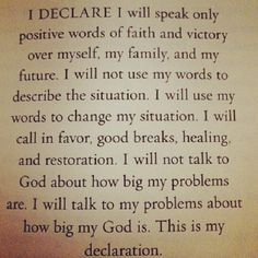 I like this..... I need to remind myself of this everyday!!!