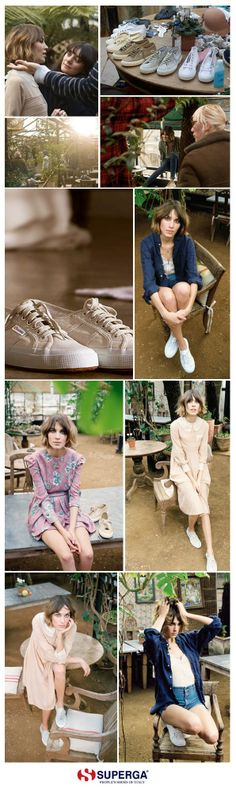 Photo shoot with Alexa Chung for Superga! Alexa Chung, Superga Outfit, Dress Outfits, Cool Outfits, Dresses, Linen Bag, Evening Shoes, Ever After, Who What Wear