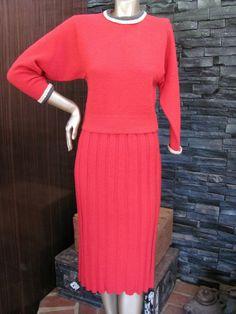 Vintage 1940's Kimberley Knitwear Coral Pink by CrimsonCrimplene, $150.00