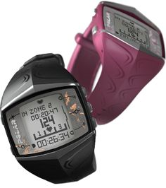 Great for Jazzercise! Monitor your heart rate, how many calories you're burning & more! We really love the pink one!