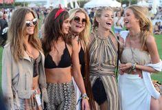 Josephine Skriver, Taylor Hill, Rachel Hilbert, Devon Windsor & Romee Strijd at #Coachella2016 Pinterest: aloraphernelia