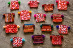 Mini Hmong Purse/Coin Bag/ Accessories/ Ethnic/ by CHEZMOIMYHOME