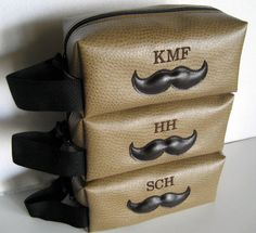 Monogrammed Shaving Kit Bags Cute Gift Idea Etsy Monogram Wedding Personalized